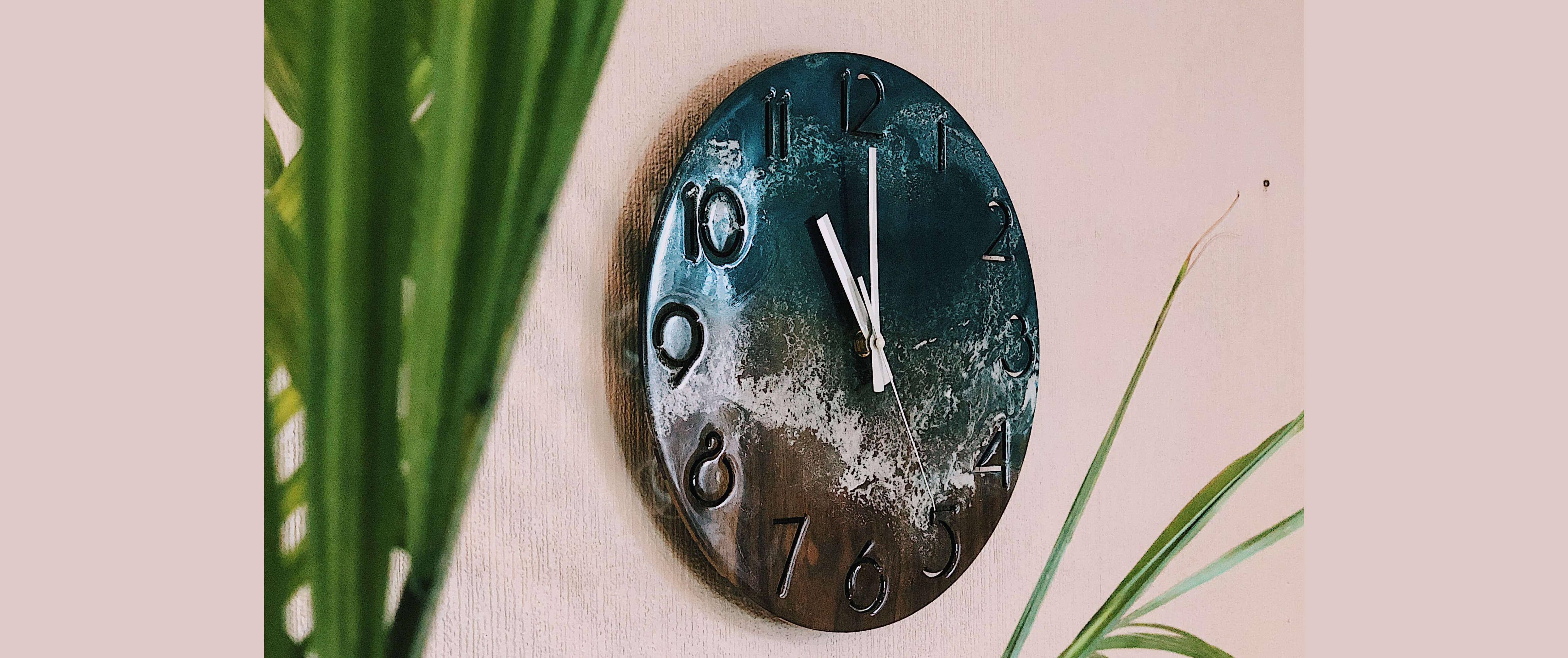 slider nghệ thật đồng hồ epoxy