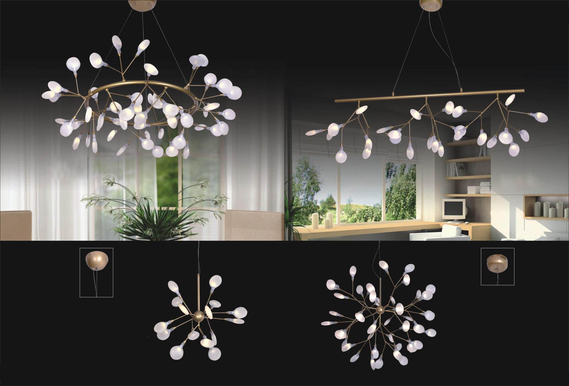 bộ đèn thả sang trọng DTR6005-DTR6004-DTR6006-DTR6001