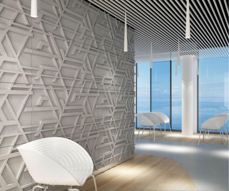 Tấm ốp tường 3D xi măng SPN037