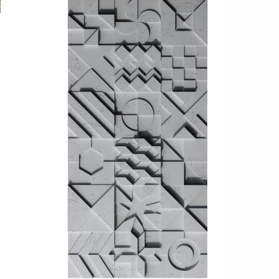 Tấm ốp tường 3D xi măng SPN040
