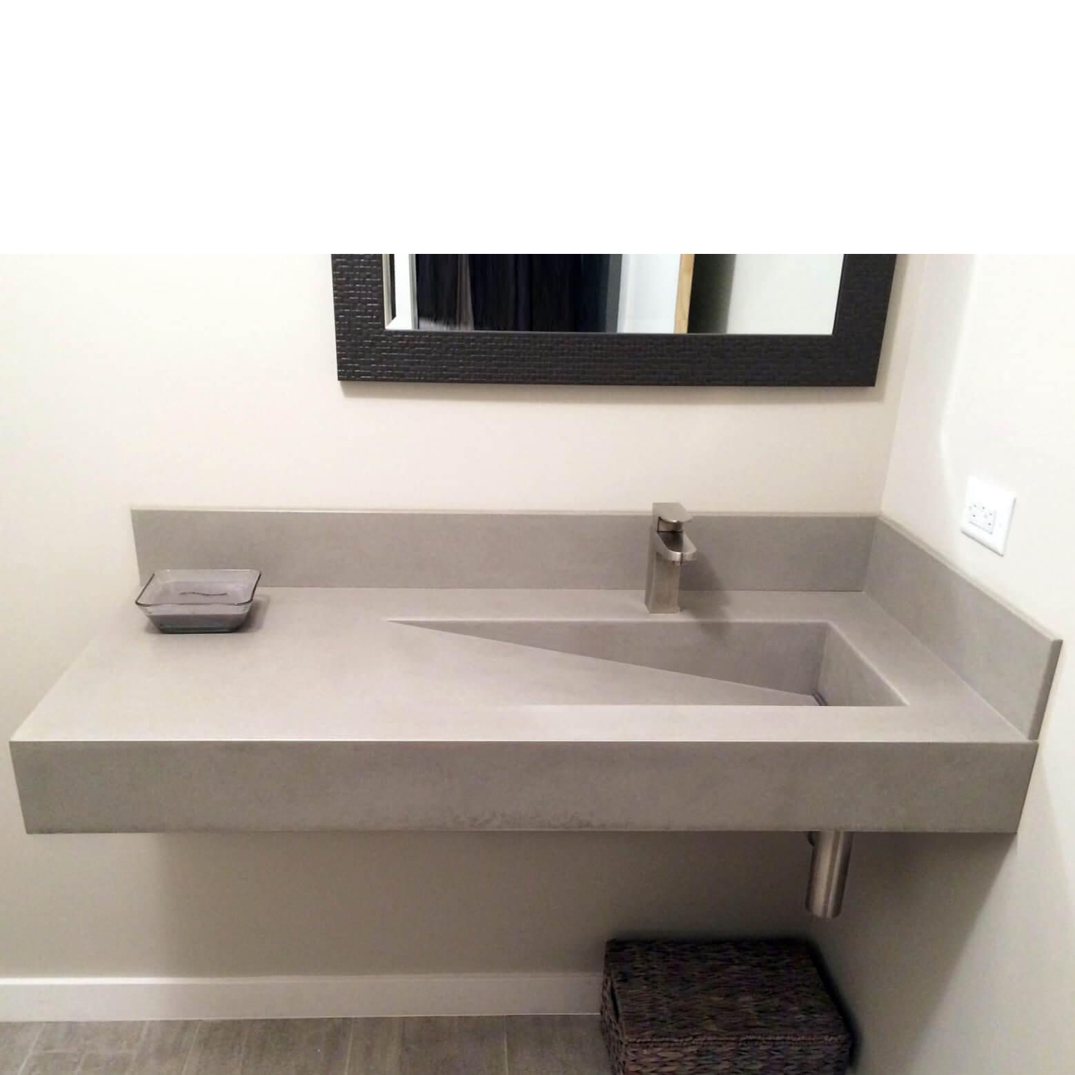 Lavabo beton xi măng nhẹ LB013