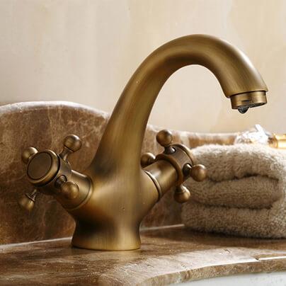 Vòi nước lavabo nóng lạnh, cổ điển GCV05