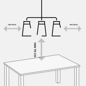 cách chọn chiều dài đèn thả bàn ăn