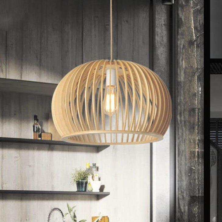 Đèn thả gỗ TVN059