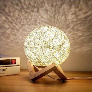 Hình ảnh thành quả làm đèn ngủ bằng len