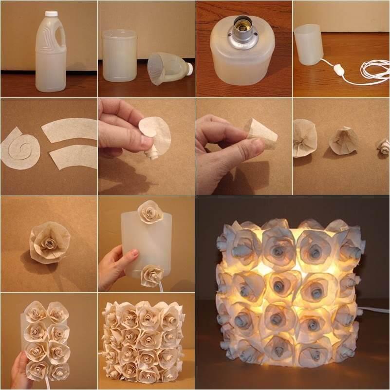 cách làm đèn ngủ để bàn bằng giấy