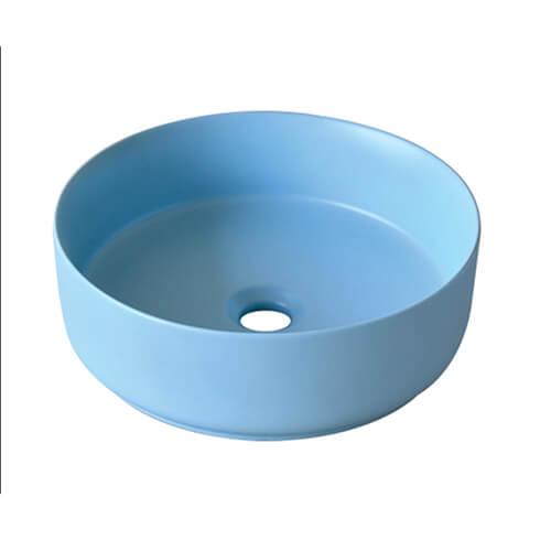 Chậu lavabo sứ màu xanh pastel CSN04
