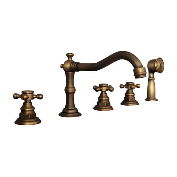 Vòi xả bồn tắm âm bàn đồng thau VBD04