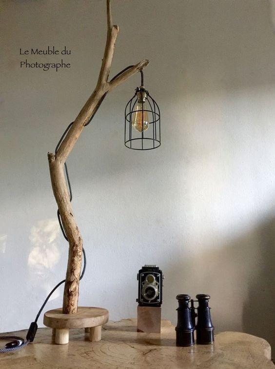 làm đèn ngủ bằng gỗ để bàn hình cái cây