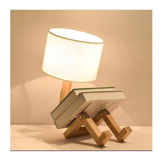 làm đèn ngủ bằng gỗ để bàn hình con người
