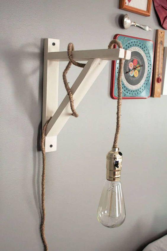 cách làm đèn ngủ bằng gỗ treo tường với giá đỡ